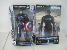 Captain America 2 + shield, children's toys, cartoon character model