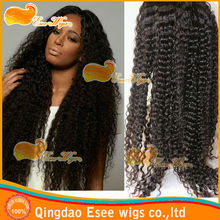 qingdao esee wigs wholesale 100% human hair wigs lace front wig with women