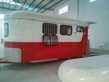 3 horse angle load trailer, rear trailer door