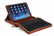 Bluetooth keyboard leather portfolio case cover for ipad air