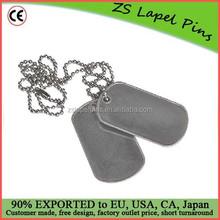 custom design quality metal dog tags blank