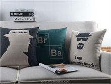 2015 latest 'gentleman' style 100% cotton fabric cushion cover, sofa decor cushion