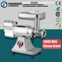 multifunctional double head 180kg capacity commercial stainless steel meat grinder with cheese grater FG-MG180G