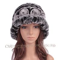 CX-C-195H Fashion High Quality Wholesale Rex Fur Cheap Bucket Hats