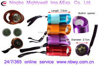 6 LED flashlight with built-in and romovable Bottle opener