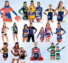 Sale Good Quality Different Design Sublimation Spandex Girl/Women/Ladies Cheerleading Uniforms