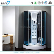 classic design touch screen computer controlled steam shower room, portable toilet and shower room