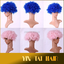 Fancy Halloween Costume Party Supplies New Red Hair Wigs Clown Mask Color Random Cosplay Wig