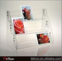 Customized clear acrylic gift card rack