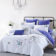 8-Piece embroidery 100%cotton duvet cover Set