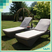 3-Piece Outdoor Adjustable sun lounger