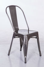 2015 Iron Sheet metal Dining Chair with brushed