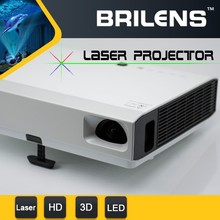 2015 Newest DLP Laser 50000hours lamp life 1280X800 native 3800 lumens led projector built in dvd player with real 3D effect