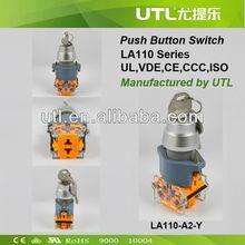 New 2015 UTL LA110A2Y KEY turn LED Push Button Switch