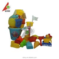 Newest beach toy bucket summer set mini cheap beach bucket set of 21PCS