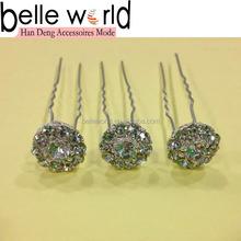 Wedding decorative Hair Pin Stick Shiny Hair Fork with Rhinestone Wholesale