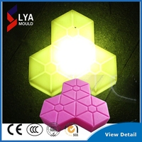 led light plastic tiles stone road side pavement