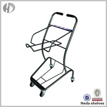 Plastic fruit and vegetable shopping trolley bag with seat
