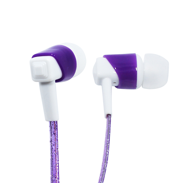 High Quality Deep Bass Flat Wired Plastic In-Ear Earbuds Handsfree Earphones With Mic