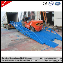 Portable loading ramp, Bridge work platform