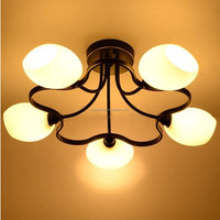 clear flower style iron glass ceiling lamps or lighting