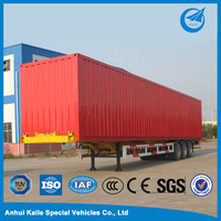 China used fiberglass cargo box semi trailer