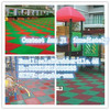 Anti-Slip Floor Mats, Outdoor Colorful Anti-Skid Safety Playground Rubber Floor Tile
