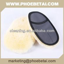 super soft double sheepskin wash mitt for car care