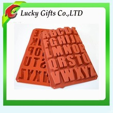 Most popular wholesale colorful letter silicone mold for cake,concrete,bread,cheese