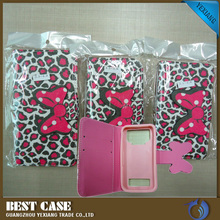 Leopard Print Universal Leather Case For Cell Phone 5.5inch Cover Case