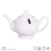 French Countryside White Antique Emboss Ceramic Teapots