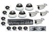 Super low price 8chs Stand alone CCTV Camera Kit security cctv dvr system,8chs H.264 Dvr,8chs video/4ch audio/4 alarm/network/PT