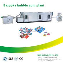 Overseas service available advanced automatic turbo bubble gum making machine for tattoo sticker bubble gum
