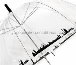 Vision Clear Dome Umbrella-London Skyline