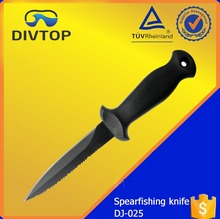 420 Stainless Steel Serrated Top Edge Black Sword Professional Fishing Knives