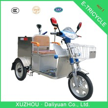 mini garbage electric cargo tricycle bicycle gas powered tricycle