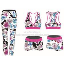 ODM custom quality sublimated compression womens yoga wear