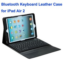 Silicone Bluetooth Keyboard and PU Leather Smart Case for iPad Air 2 with Holder