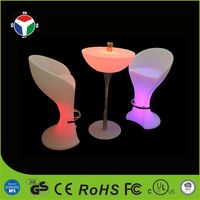 LED rechargeable waterproof decoration bar table firniture with CE&RoHS certification