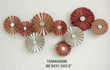 2015 popular high quality Abstract colorful nice metal home decor wall plaque