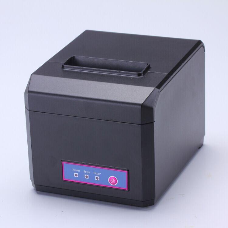 Лучший продавец pos принтер с USB + Серийный + Ethernet интерфейсы 80 мм термопринтер