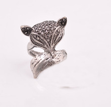 2015 Fashion crystal fox sex with woman or animal rings