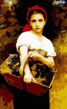 Desnudo pintura al óleo imagen Mujer hermosa foto de la niña pintura por números