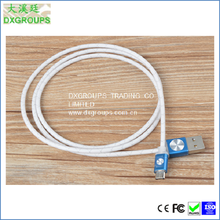 Silver Style Micro Usb Charger cable For Cell Phones
