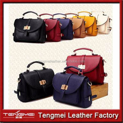 Women pu leather handbag,Ladiesbag,pu Leather women handbag ,pu leather bags manufacture