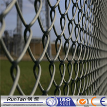 2015 Trade assurance pvc 9 gauge chain link wire mesh(diamond wire mesh) for sports filed fence