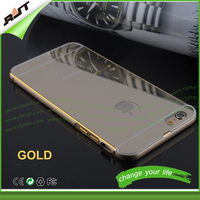 Premium quality for iphone 5 and 5s cell phone case with mirror clear gold mirror phone case for iphone