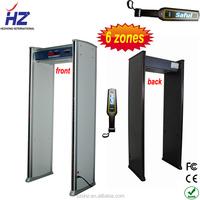online shopping for wholesale 6 zones walk through metal detector door HZ-600
