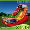 New Point pvc Cars Inflatable Slide for kids ,China factory sale kids Cars Inflatable Slide