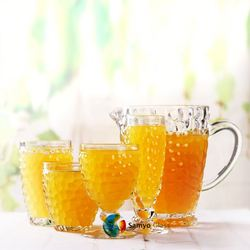Samyo Glassware Manufacturer 45ml german round glass honey jar made in china